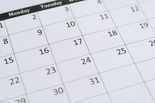 Числа и дни недели