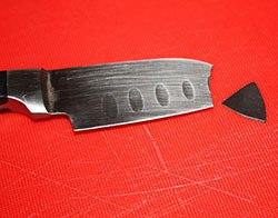 Отломился кончик у ножа