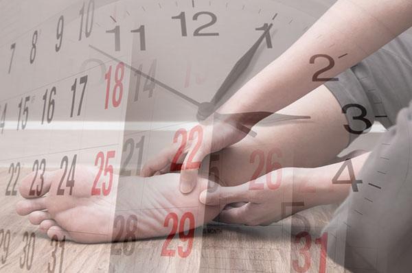 Зуд правой пятки примета по времени и дням недели
