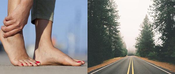 Чешется правая стопа - к дороге