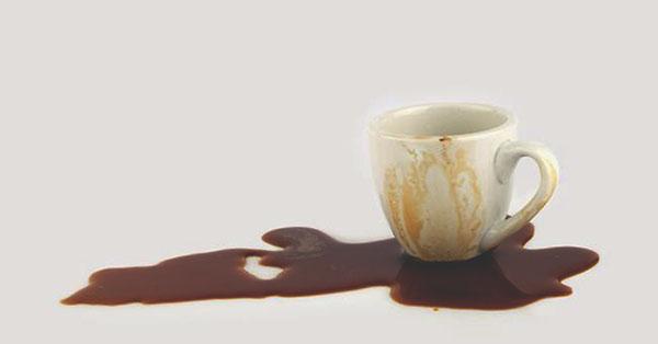Пролитый кофе