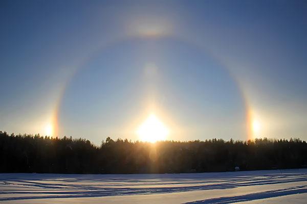 Радуга вокруг солнца