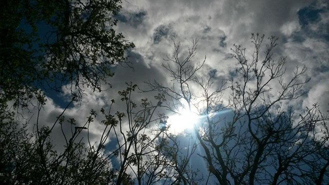 Солнце выходит из-за туч